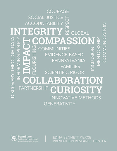 PRC values include integrity, compassion, impact, collaboration and curiosity