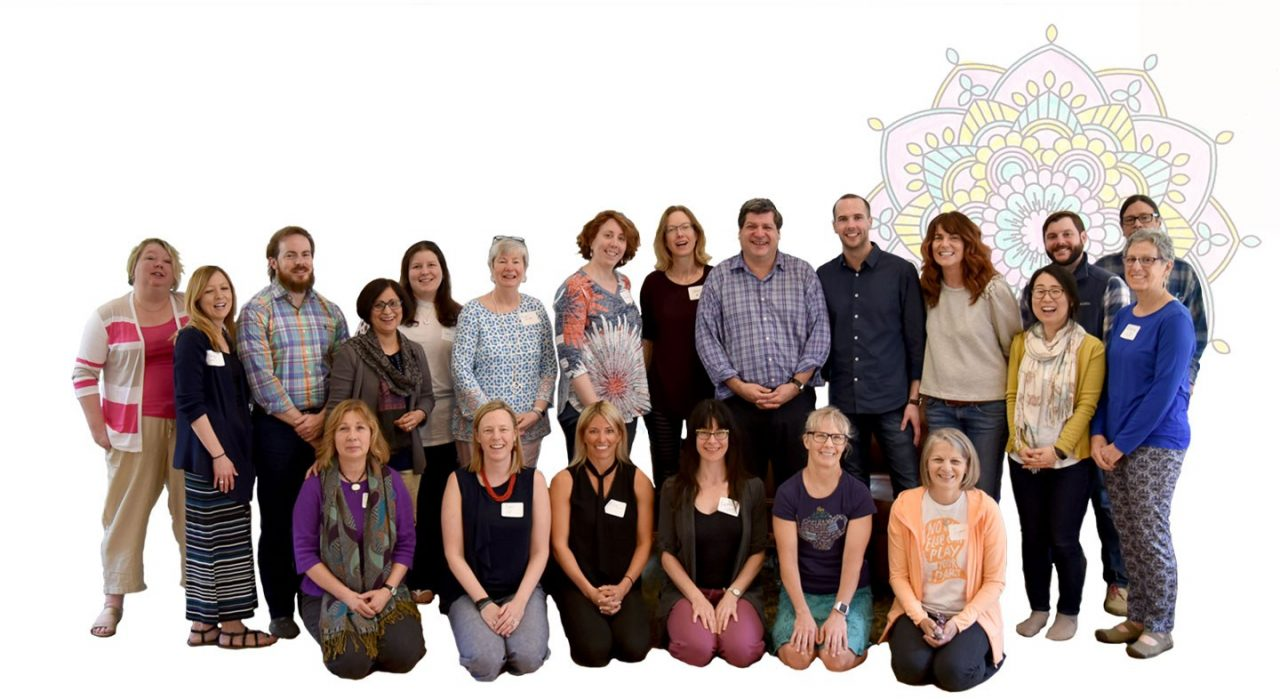 Silhouetted image of workshop participants
