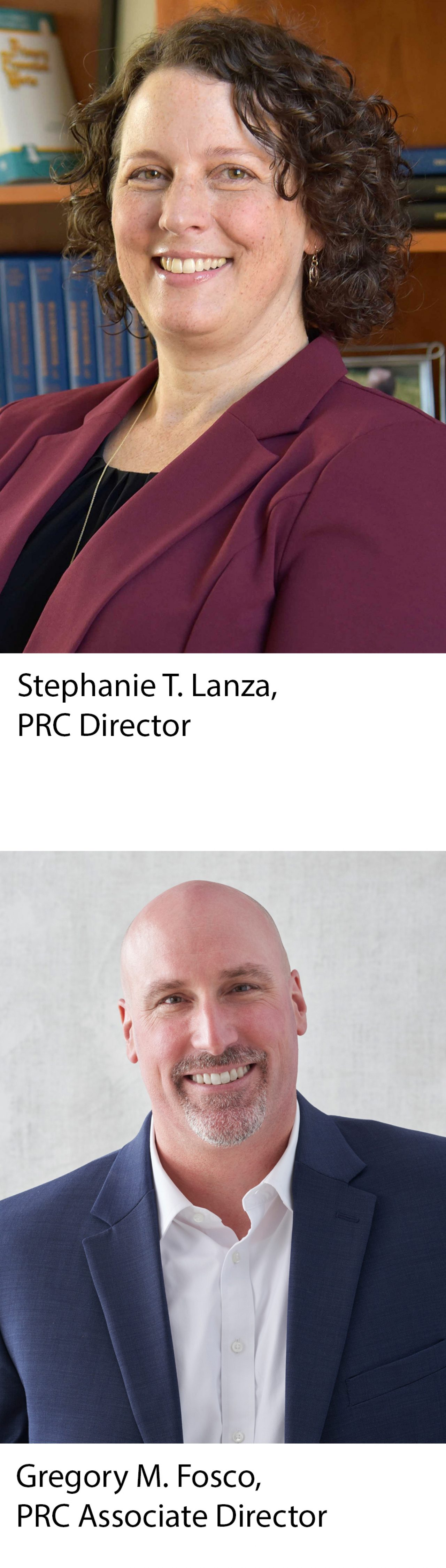 Portraits of PRC Director Stephanie Lanza and PRC Associate Director Greg Fosco