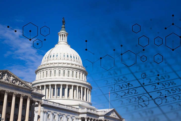 image of Capitol Dome with data sky