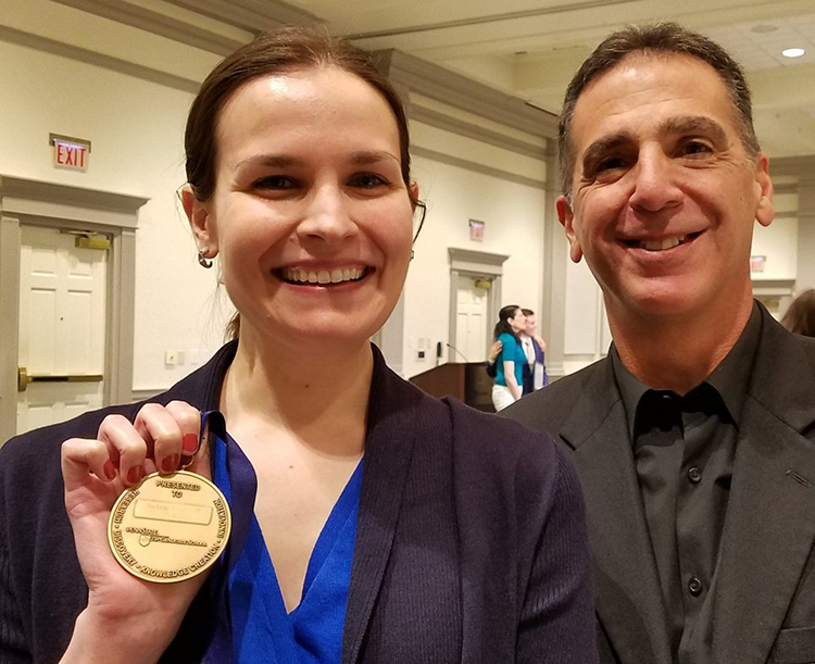 Penn State student Nichole Sell and her adviser, Robert Turrisi, professor of biobehavioral health and Prevention Research Center affiliate